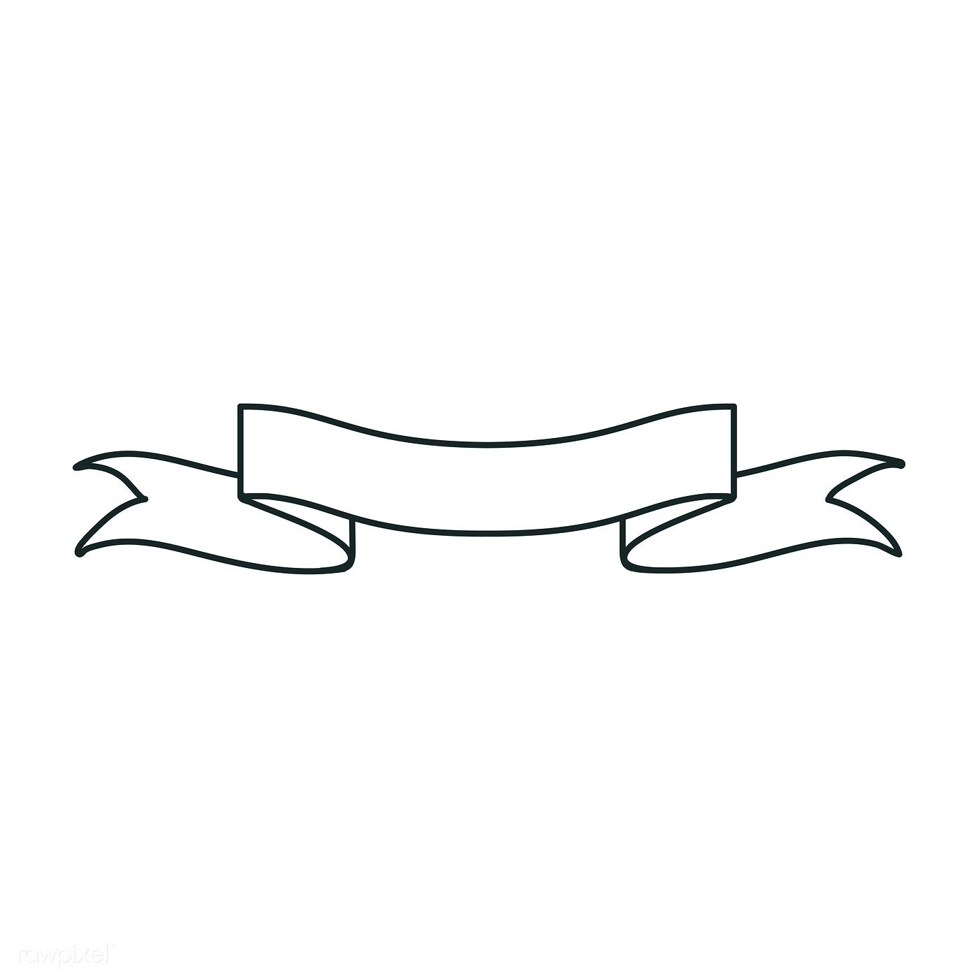 white ribbon banner doodle style vector | free image by rawpixel.com / aum  | banner doodle, ribbon banner, ribbon png  pinterest