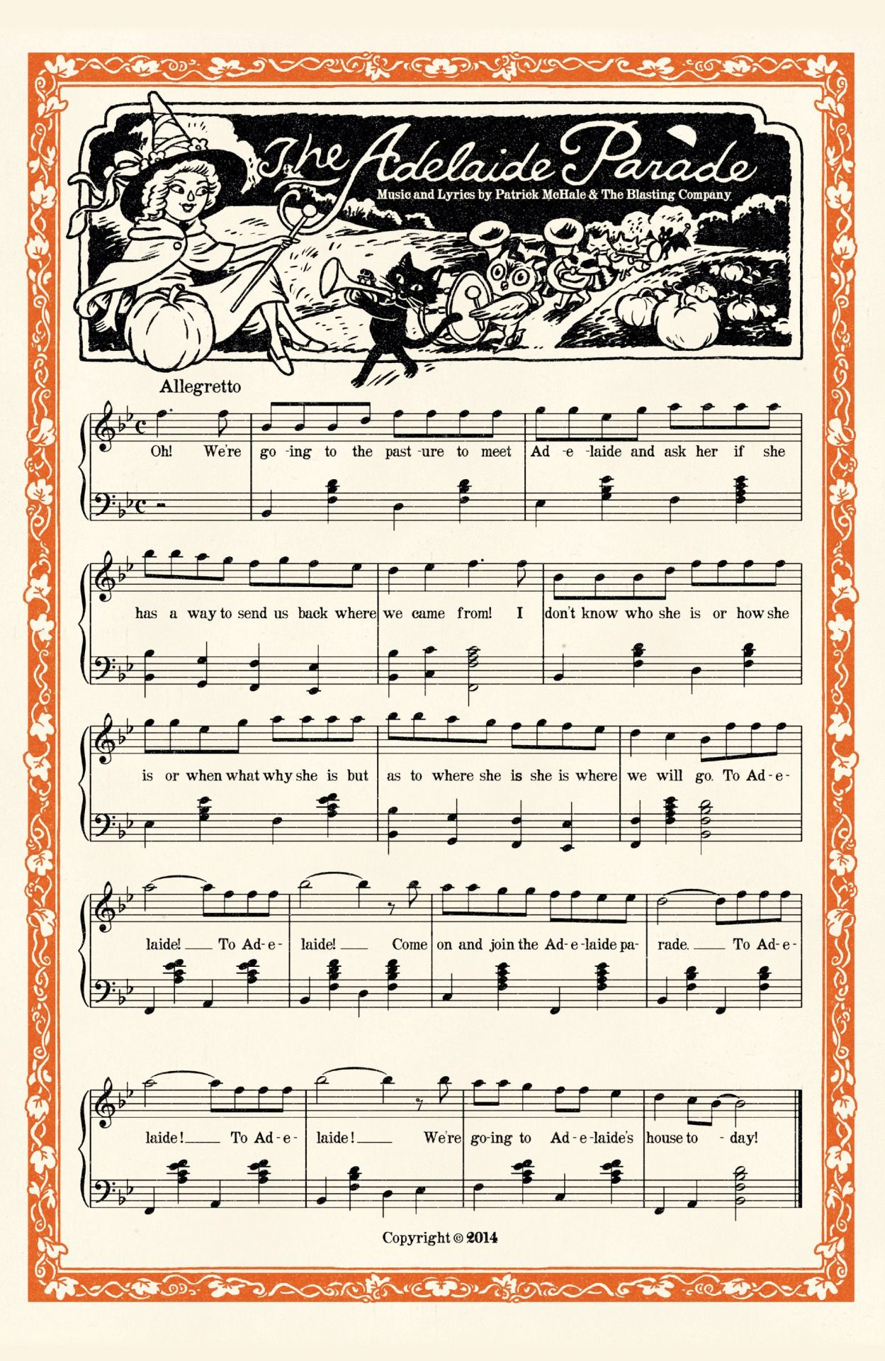 The Adelaide Parade Sheet Music From Otgw Over The Garden Wall