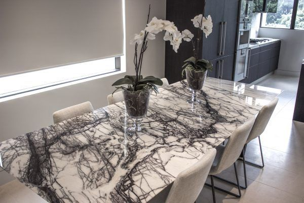 Alexa Marble Dining Table Livingroomthemes Glamlivingroom