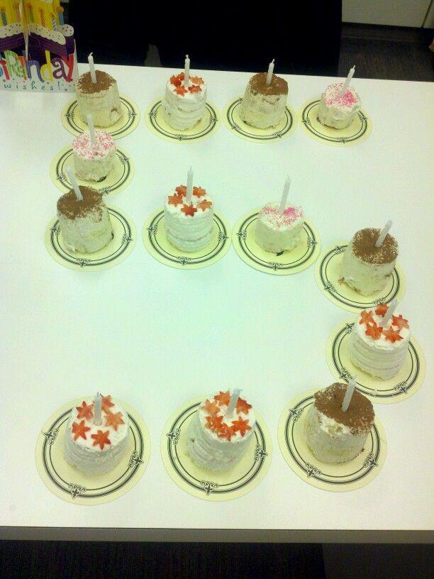 Mini Strawberry shortcake mini tiramisu and mini funfetti