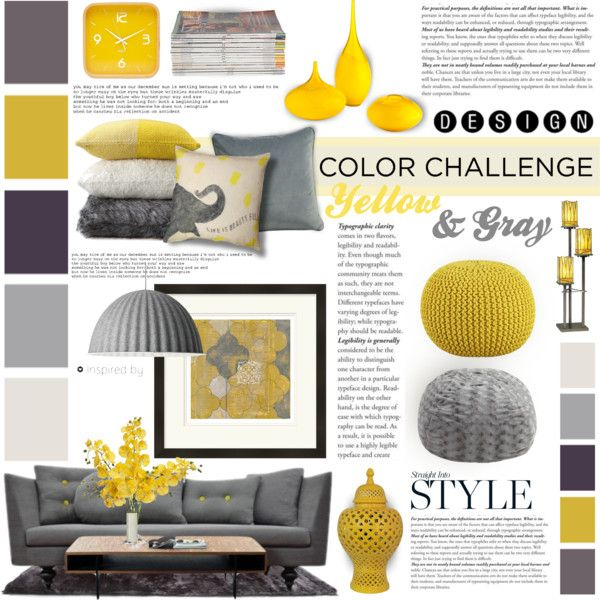 Moodboard 4 Yellow Grey Living Room Living Room Decor Gray