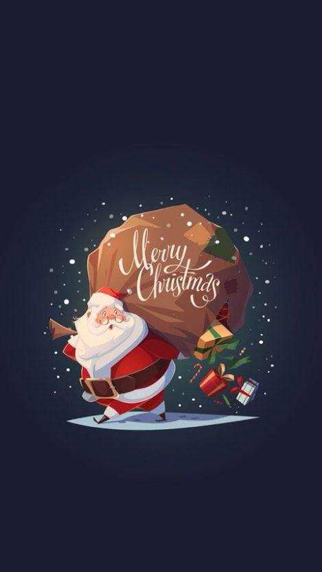 Santa Merry Christmas Iphone Wallpaper Free Getintopik Cute Christmas Wallpaper Merry Christmas Wallpaper Wallpaper Iphone Christmas