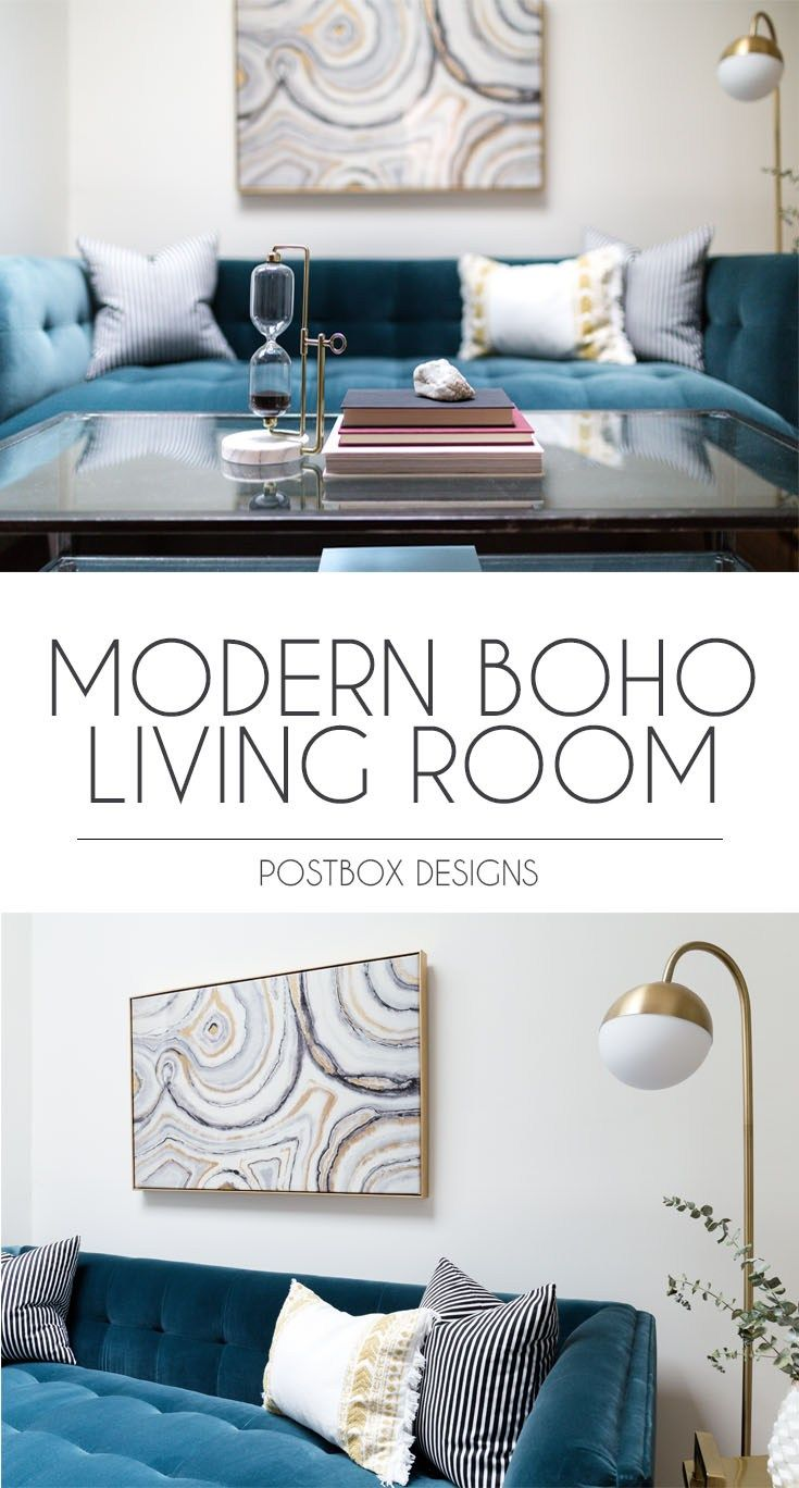 Modern Boho Living Room On A Budget Makeover Reveal Rooms And Family Design