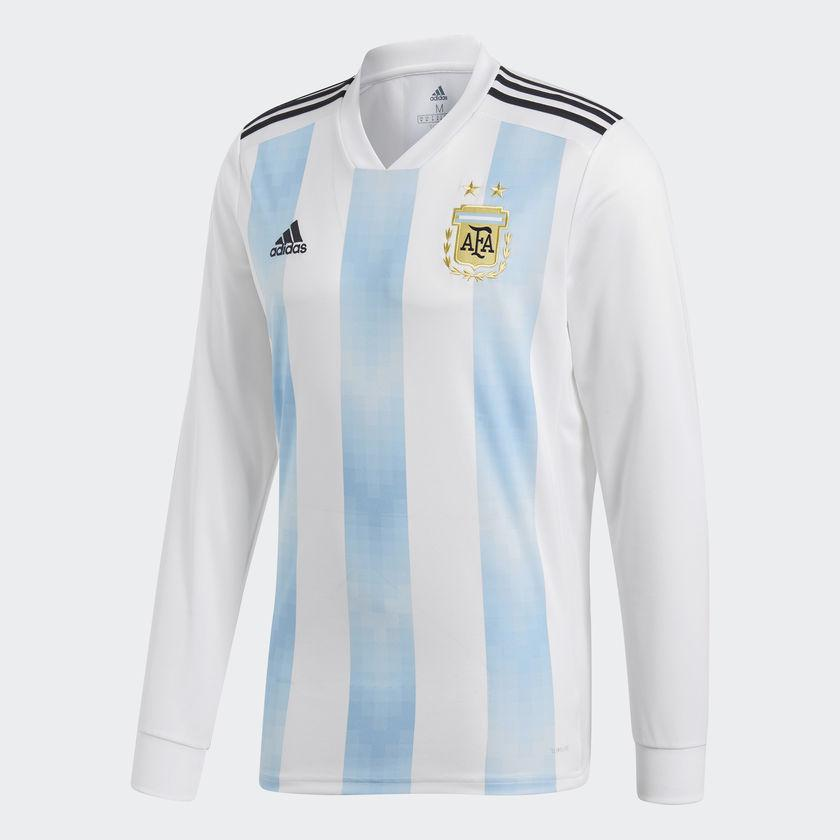 low priced d5894 d1ffc Adidas lionel messi argentina long sleeve home jersey fifa ...