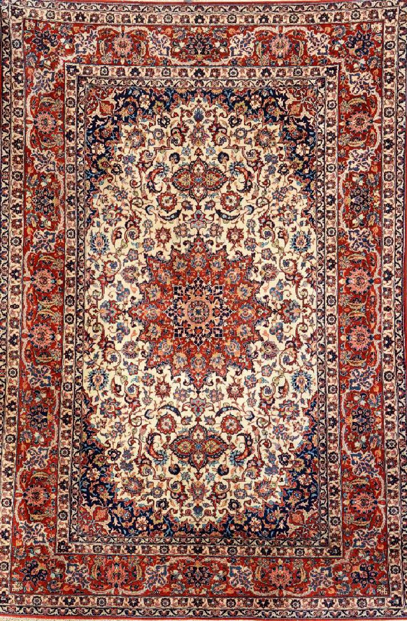 Isfahan Rug Persia Circa 1940 Wool Cotton Approx 217 X 147 Cm Rugs Persian Rug Antique Carpets