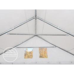 Photo of Lagerzelt 3×12 m – 2,6 m Seitenhöhe, Pvc 550 g/m², mit Bodenrahmen weiß | mit Statik (Erduntergrund)