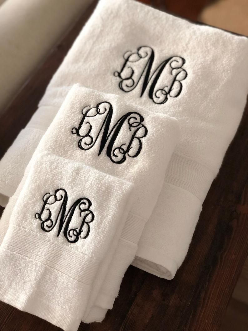 Pin On Monogram Towels Etsy Store