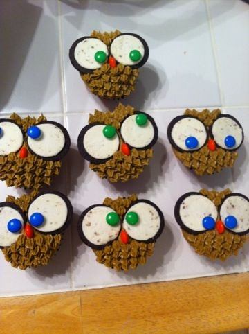 Cake Dulce Owl Cupcakes Sweeties and treats Pinterest Owl