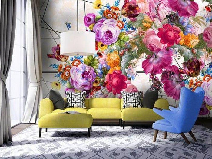 100 Interieur Ideen mit grellen Wandfarben! Wandgestaltung Ideen - moderne wandgestaltung wohnzimmer lila