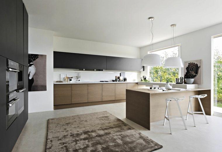 cuisine contemporaine bois en 75 propositions de design moderne