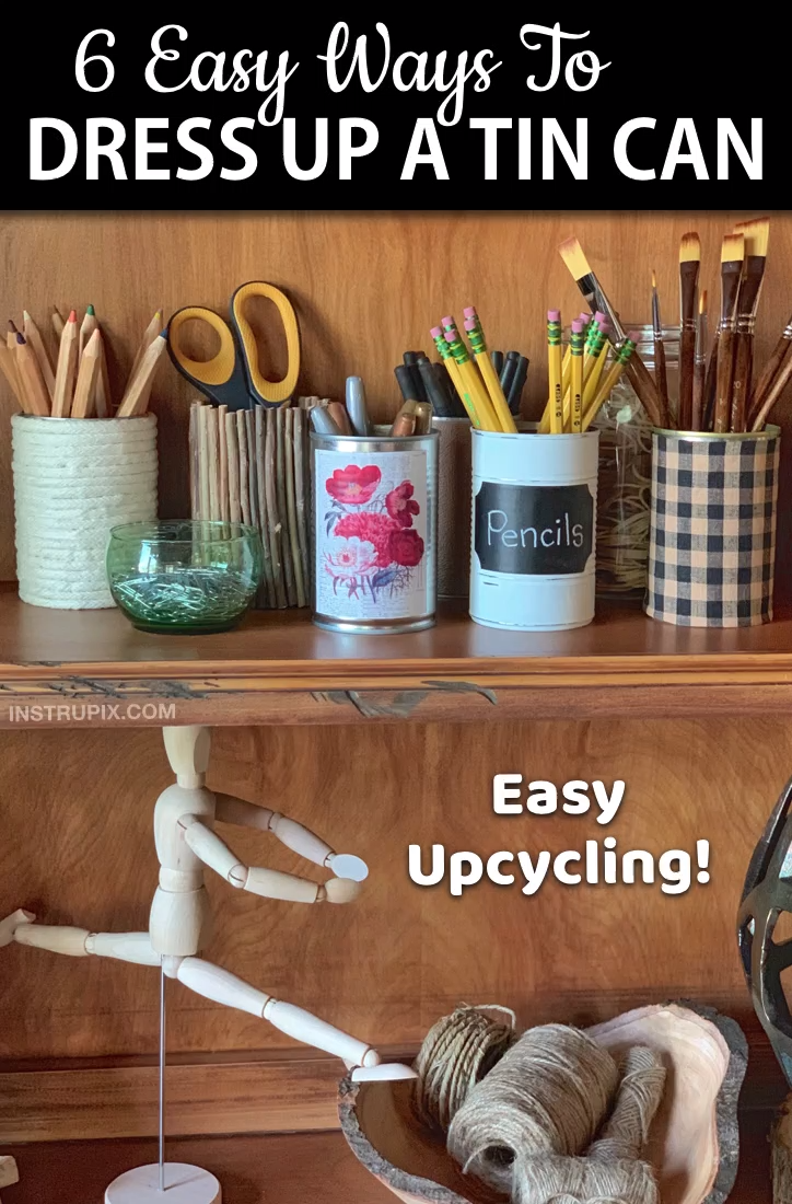 Photo of Upcycling Tin Cans (6 Easy Projects To Make) DIY Crafts To Try For The Home That Are Useful!