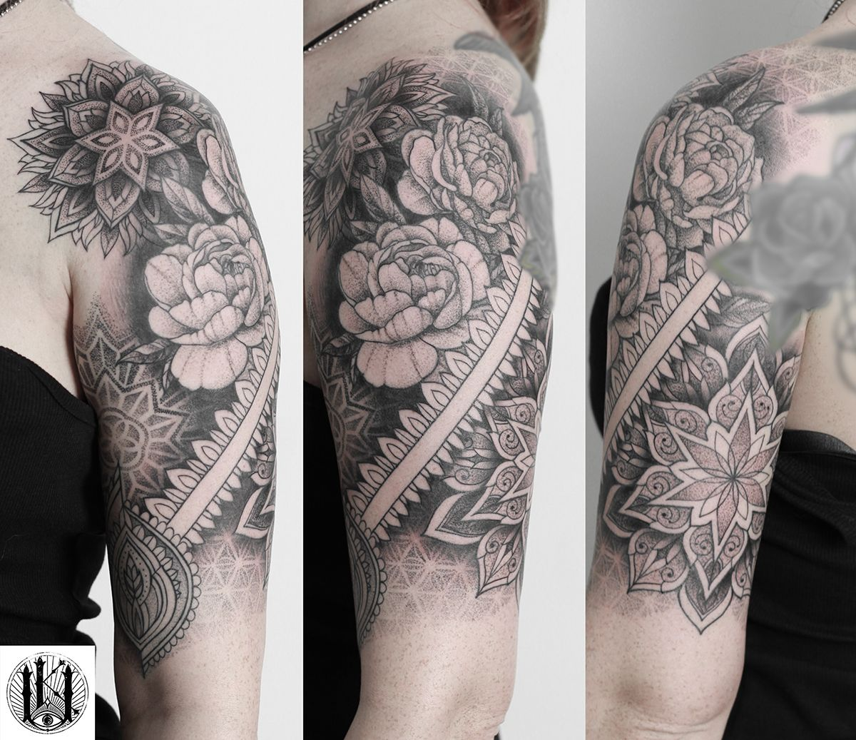 Tattoo Tatuaz Warszawa Warsaw Rose Roza Geometria