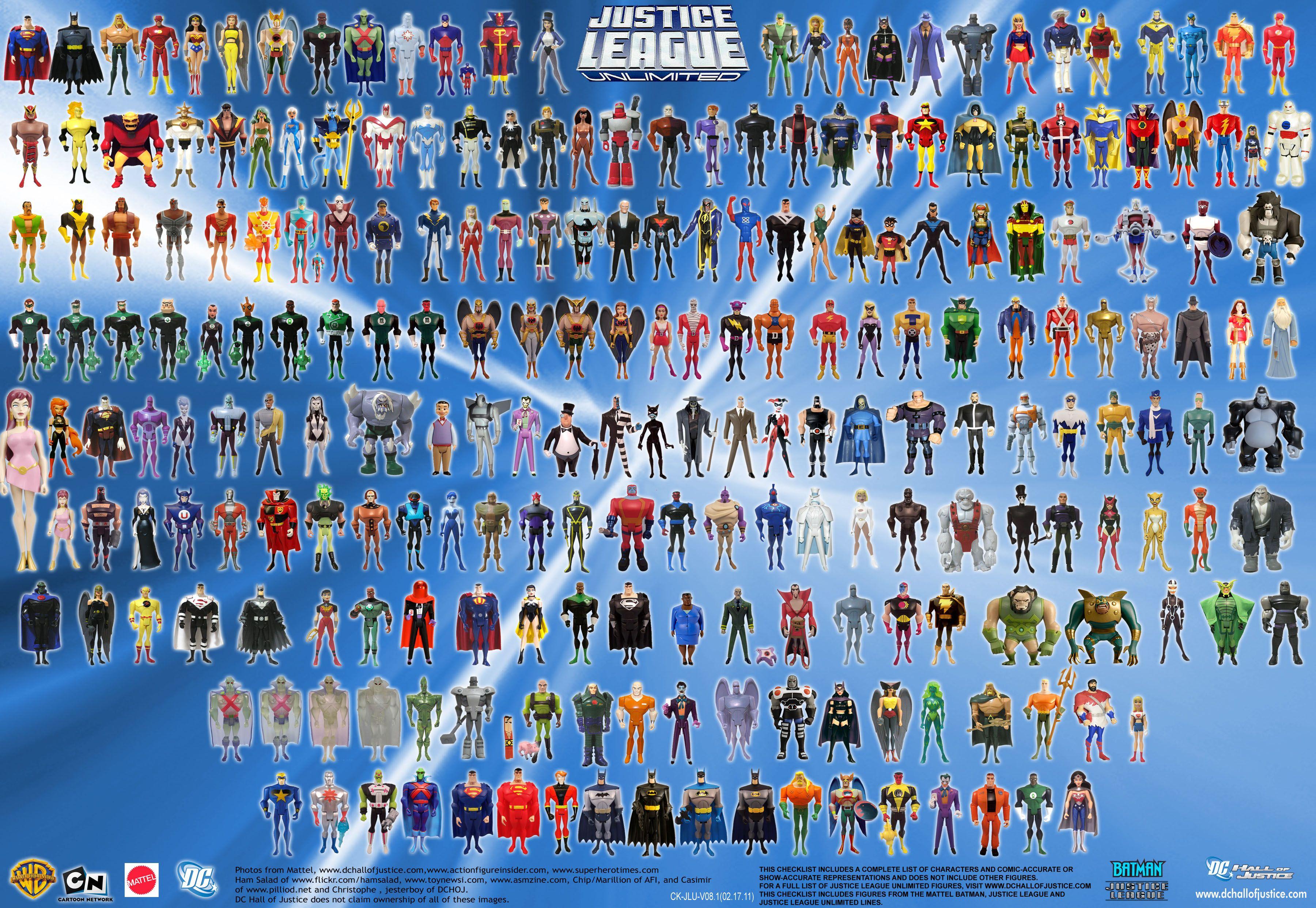 Justice League Unlimited Action Figure Collection Justice League Unlimited Justice League Toys Justice League