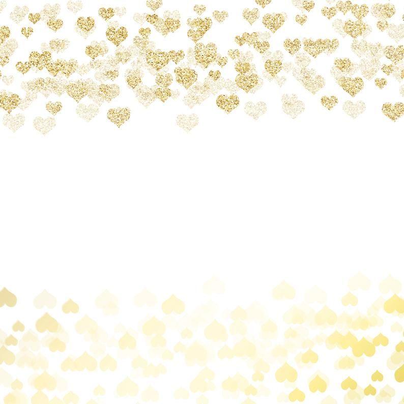 Pink Gold Rose Gold Glitter Heart Confetti Borders Png Etsy Gold Glitter Heart Gold Glitter Confetti Rose Gold Glitter