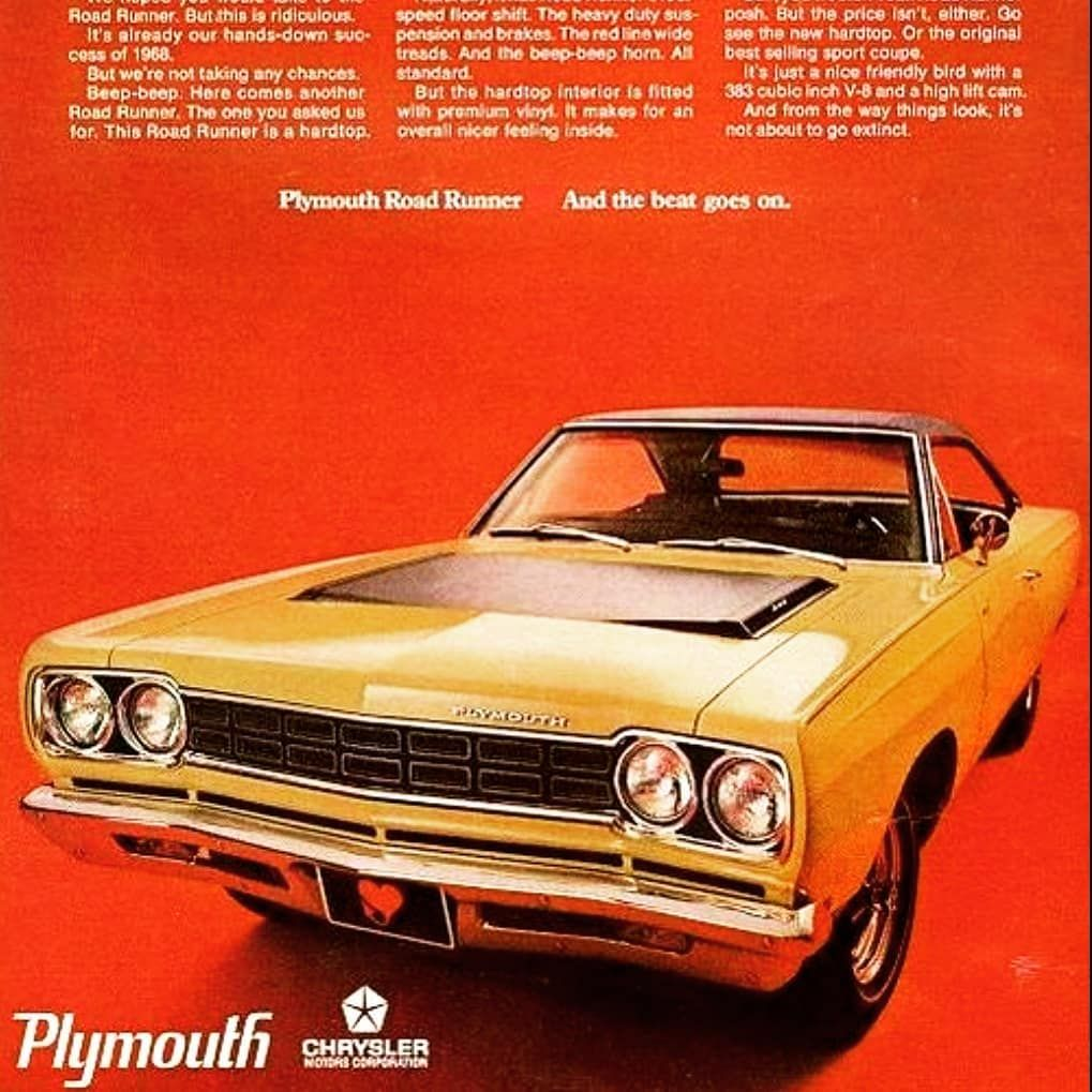 70 Likes 0 Comments Tunnel Ram Tunnelramofficial On Instagram Plymouth Road Runner The Beat Goes On Tunnelram In 2020 Mopar Mopar Muscle Cars Road Runner