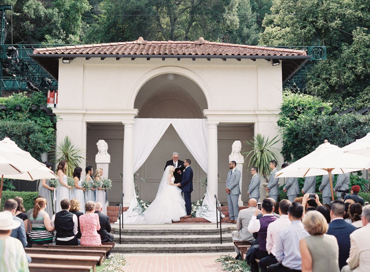 Wedding ceremony Elegant Tuscan inspired wedding