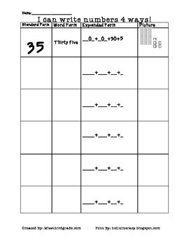 Worksheet Expanded And Standard Form Worksheets 1000 images about math place value on pinterest expanded form games and student