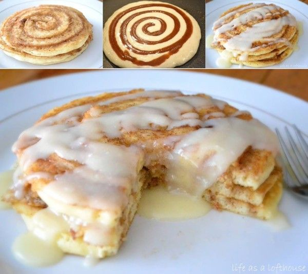 DIY Cinnamon Roll Pancakes - Find Fun Art Projects to Do at Home and Arts and Crafts Ideas