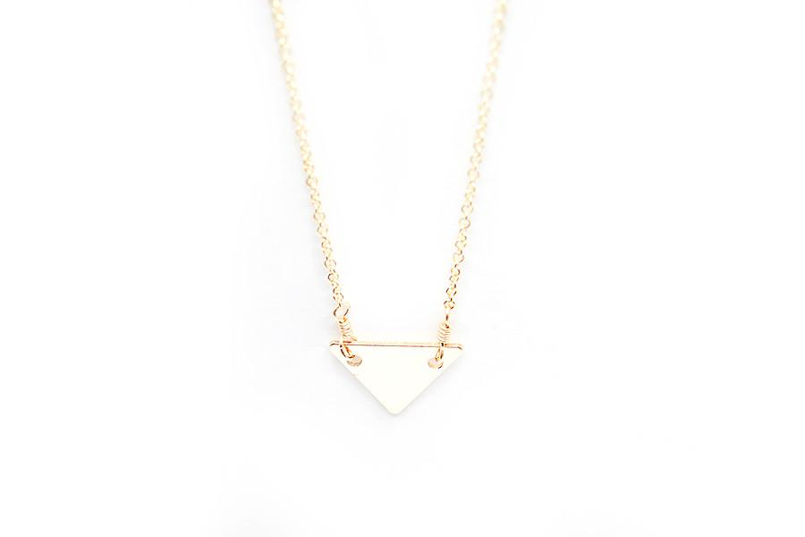 Gold Triangle Necklace 14k Gold Filled Triangle Pendant Dainty Triangle Pendant Adorn512 Harmony Necklace Gold Triangle Necklace Handmade Gold Jewellery