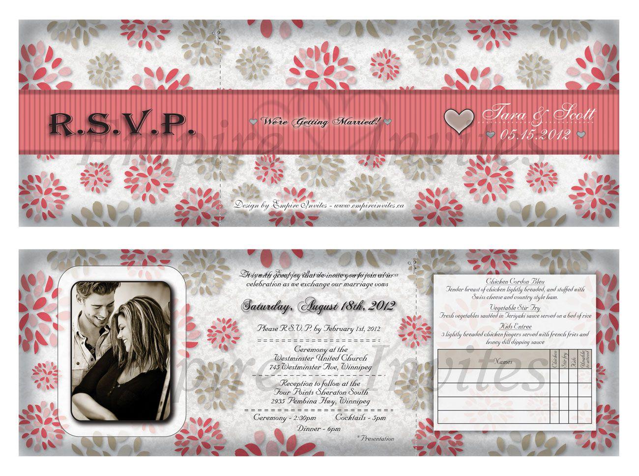 Custom wedding invitations From Winnipeg, Canada - EMPIRE INVITES ...