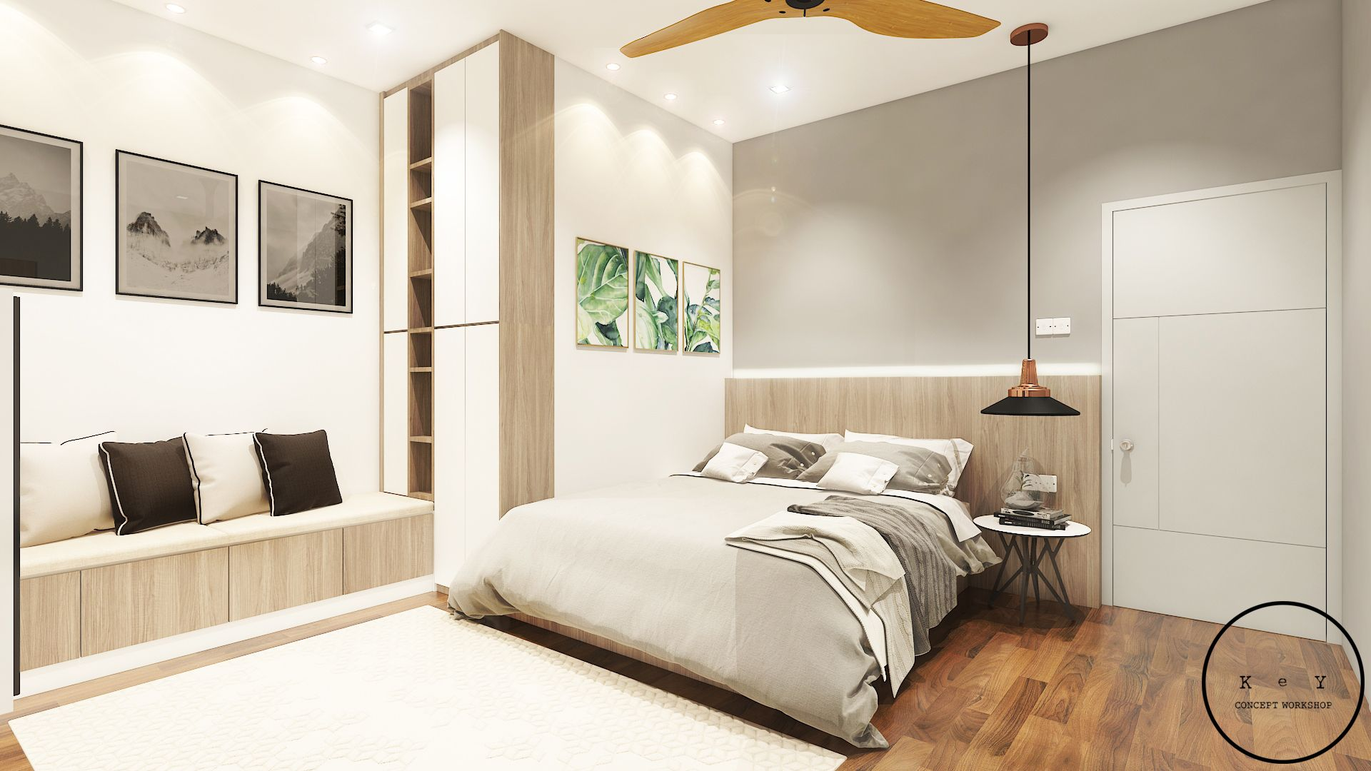 Looking For A Soft Color Scheme And Simple Lighting Design For Your Master Bedroom Introduce You A Minimalist Style Home Renovation Interior Design Home