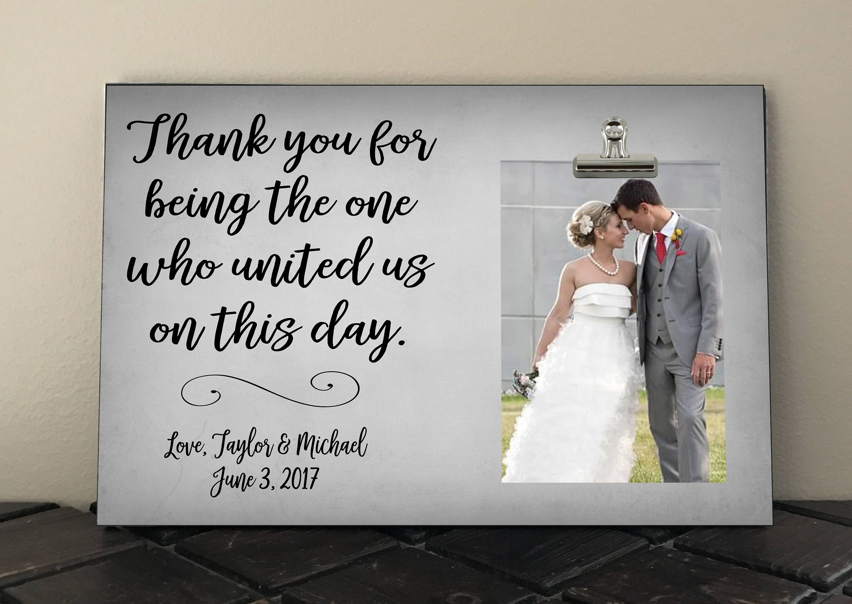 Personalized Free, THANK YOU gift for Wedding OFFICIANT