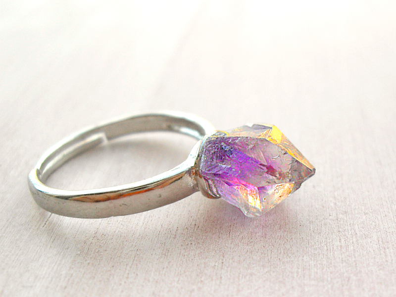 ZAUBER ELFE Amethyst Druse Ring Quarz Kristall | Rings and Jewelry