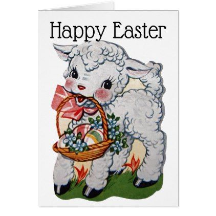 Retrovintage easter lamb card retro gifts style cyo diy special retrovintage easter lamb card retro gifts style cyo diy special idea negle Images