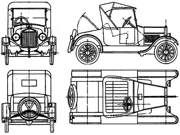 Model T Car Ford Model T Car Concept Coloring Pages Ford