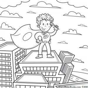Super Blake Coloring Page dental health month School Classroom