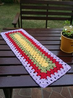 Granny Rectangle, pattern is on The Crochet Crowd.