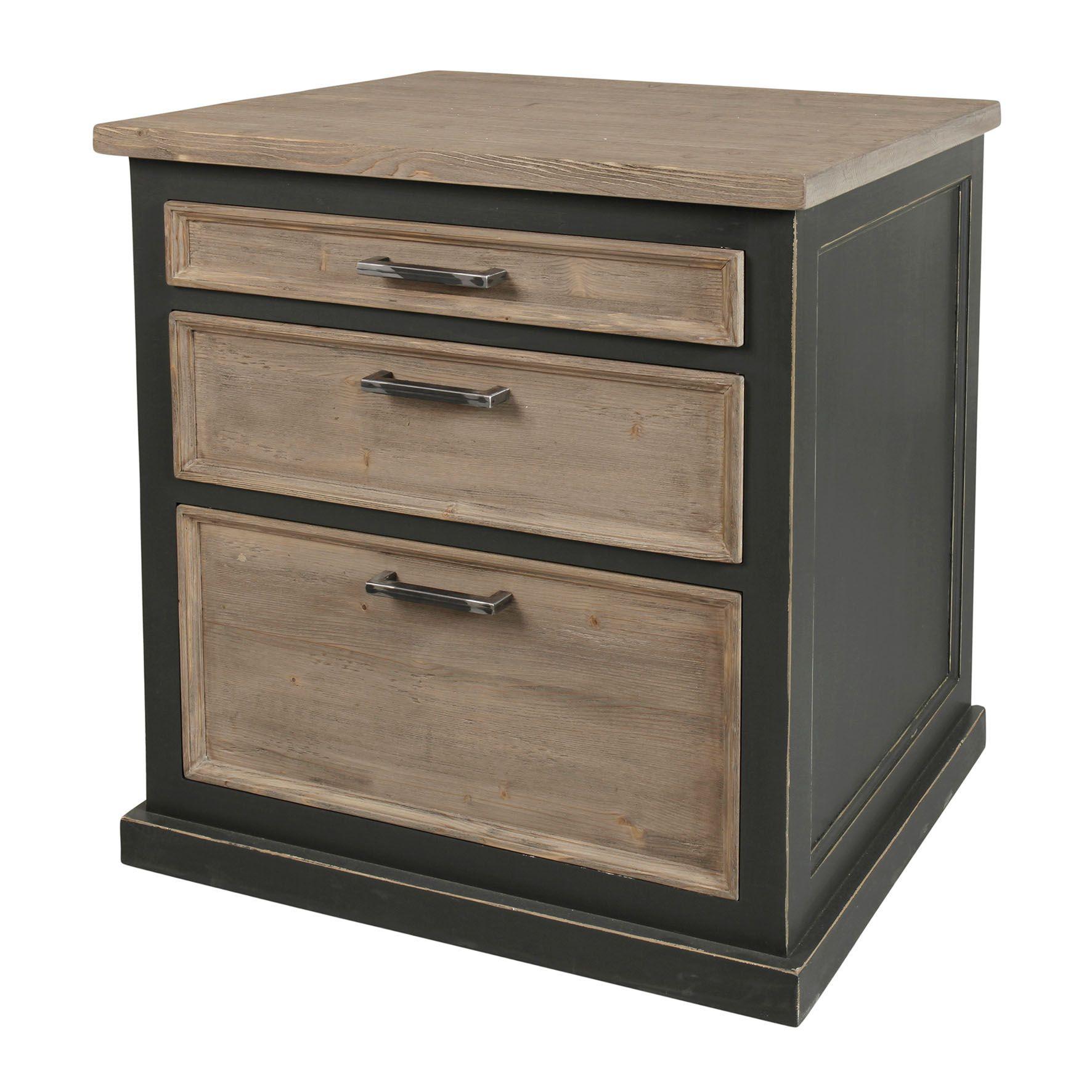 Meuble Bas Anthracithe 3 Tiroirs 90 80 65 Cm Decor Home Decor Filing Cabinet
