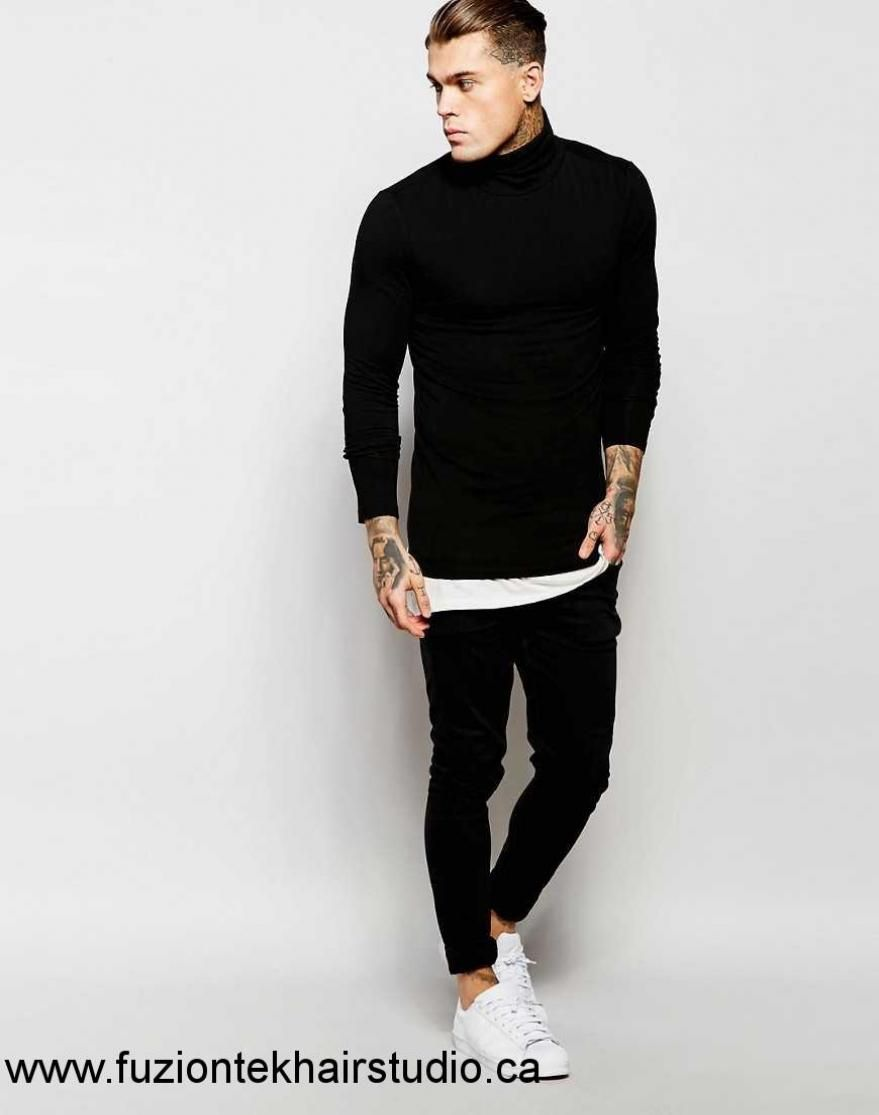 51680f3f 2017-Men-Women-Asos-Extreme-Muscle-Fit-Long-Sleeve-Tshirt-With-Roll ...