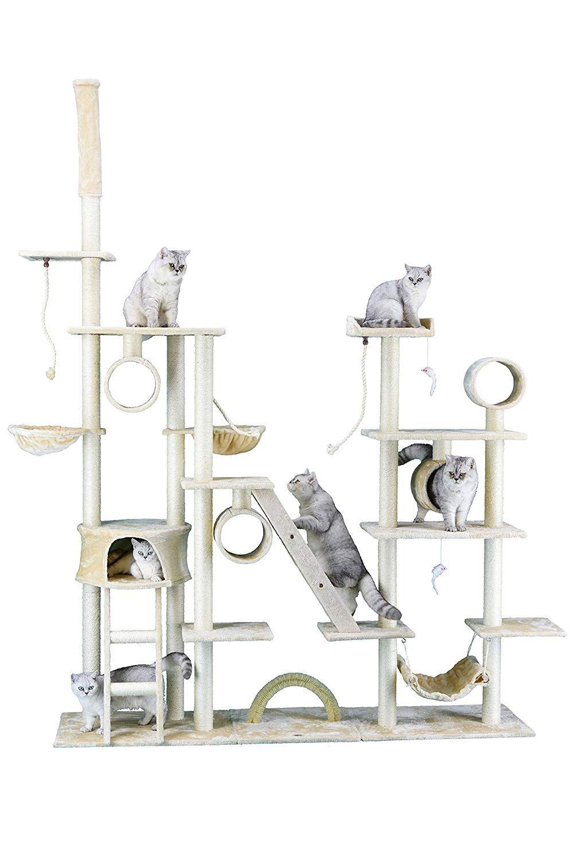 Amazonsmile Go Pet Club Cat Tree Condo Furniture 108 Inch Beige Pet Supplies Gatos