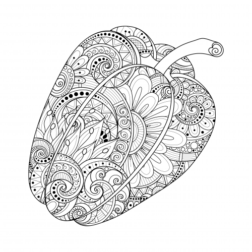 Chilli Pepper coloring page | Free Printable Coloring Pages | 500x500