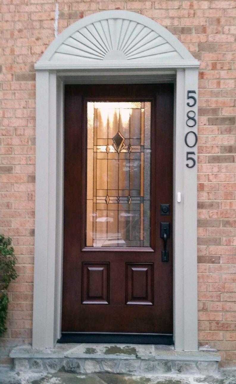 Provia Signet Fiberglass Entry Door With 2 3 Lite And Decorative Glass Entry Doors Garage Door Design Fiberglass Entry Doors