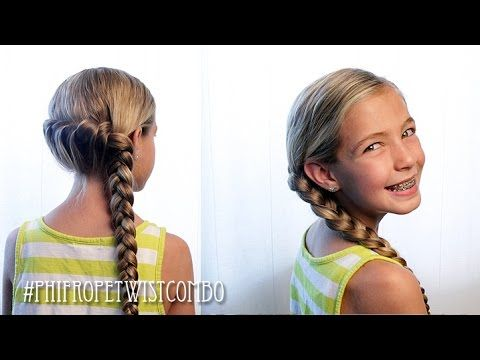 How To: French Rope Twist Combo Braid | Pretty Hair is Fun - YouTubeBraid Hairstyles, Braids, braids tutorial, braids for short hair, braids for short hair tutorial, braids for long hair, braids for long hair tutorials...