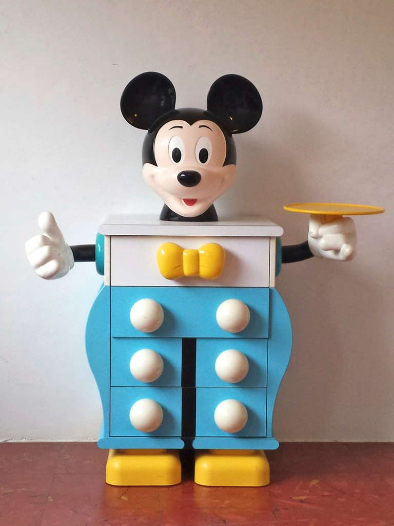 Pierre Colleu for Starform, Mickey Mouse Pair of Chests of Drawers ...