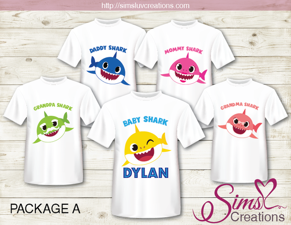 Baby Shark Doo Doo T Shirts Top Boy Girl Kids Children Adults Funny Song Gift
