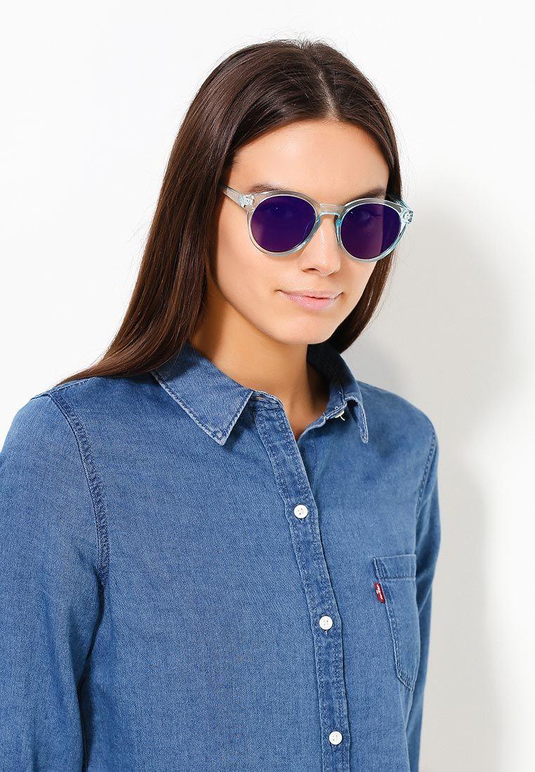 Солнцезащитные очки Vibes в пластиковой оправе. Детали: зеркальные линзы, пластиковые заушники.
