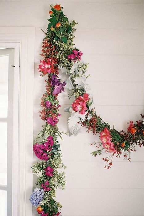 Wedding Trends Floral Garlands and Wreaths Floral garland
