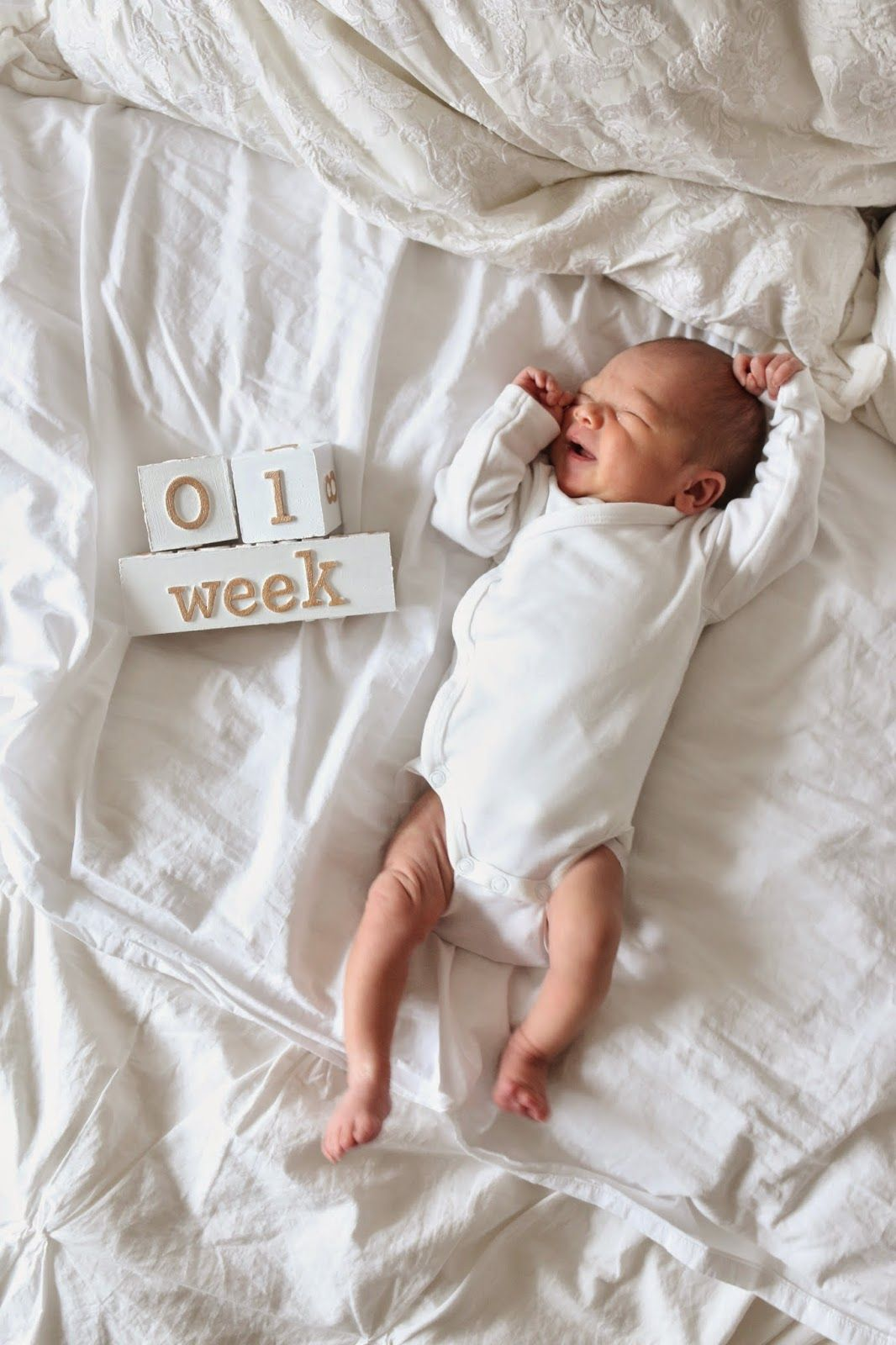 Diy Baby Monthly Age Blocks Baby Milestones Pictures Baby