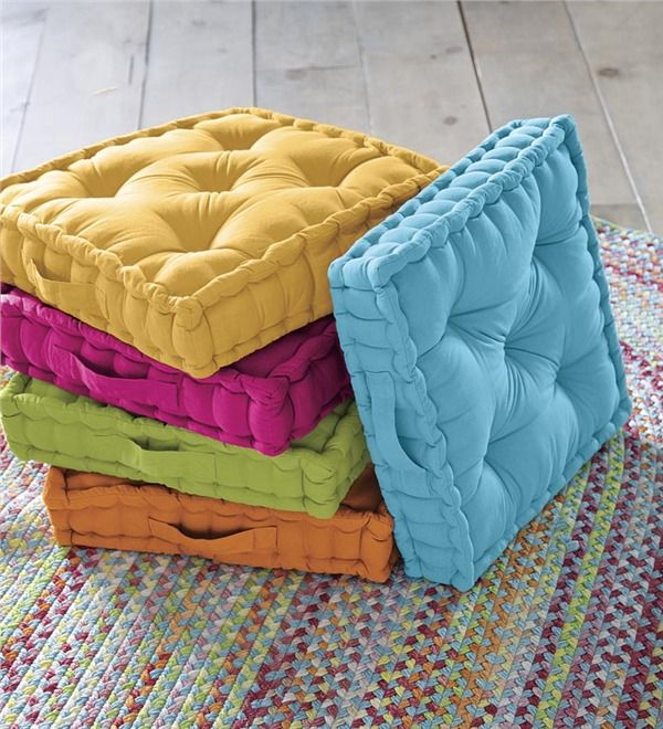 Main image for Colorful Tufted Floor Cushion | Home Textile ...