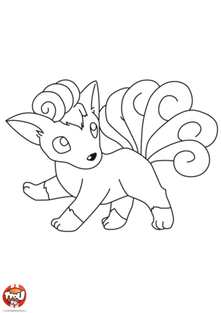 Coloriage Goupix 3 Coloriage Coloriage Pokemon