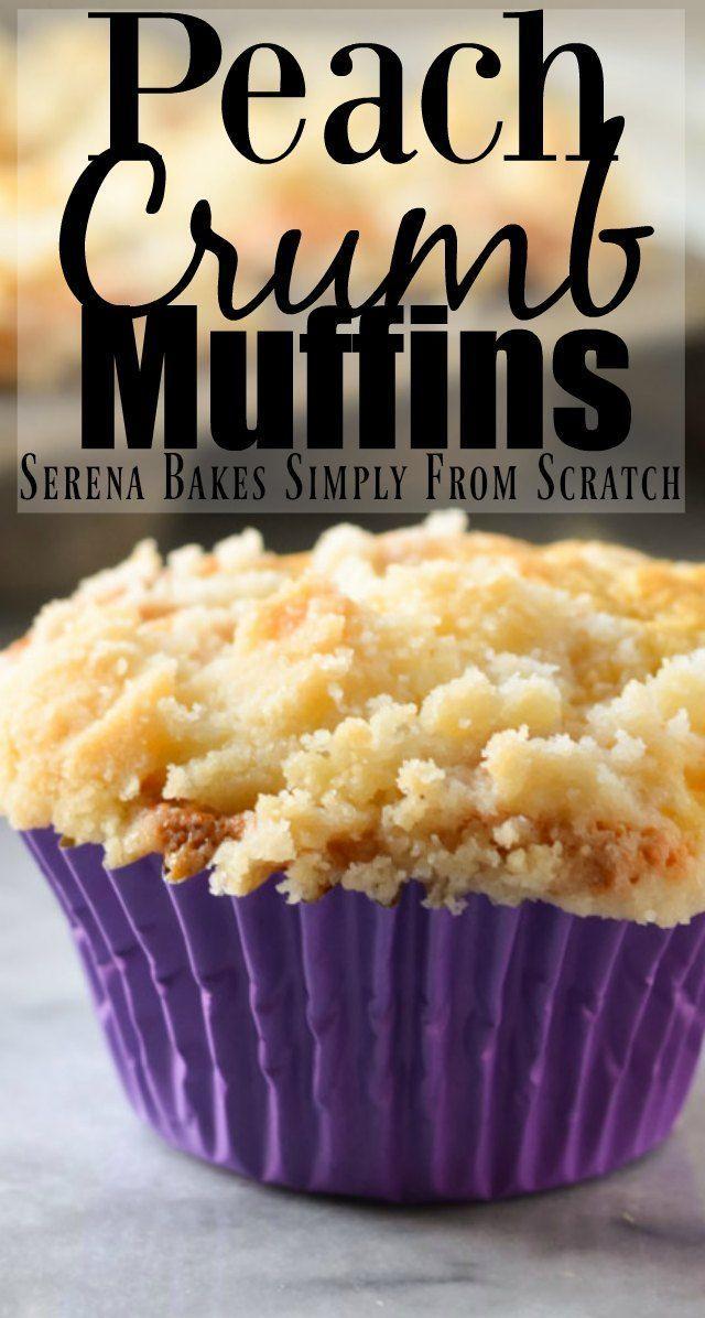 Peach Crumb Muffins, #Crumb #Muffins #PEACH