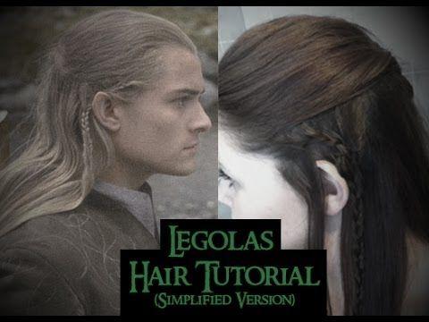 Legolas Hair Tutorial Simple Version Youtube Hair Tutorial Elf Hair Elvish Hairstyles