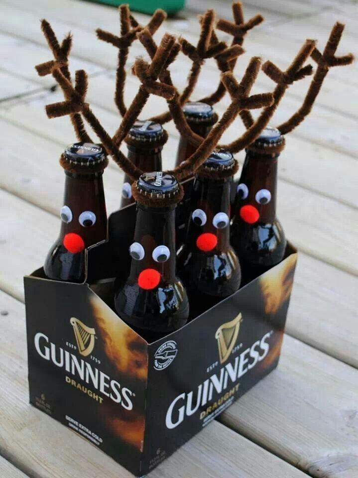 Reindeer beer ho ho ho.  Cute gift for someone who likes beer.