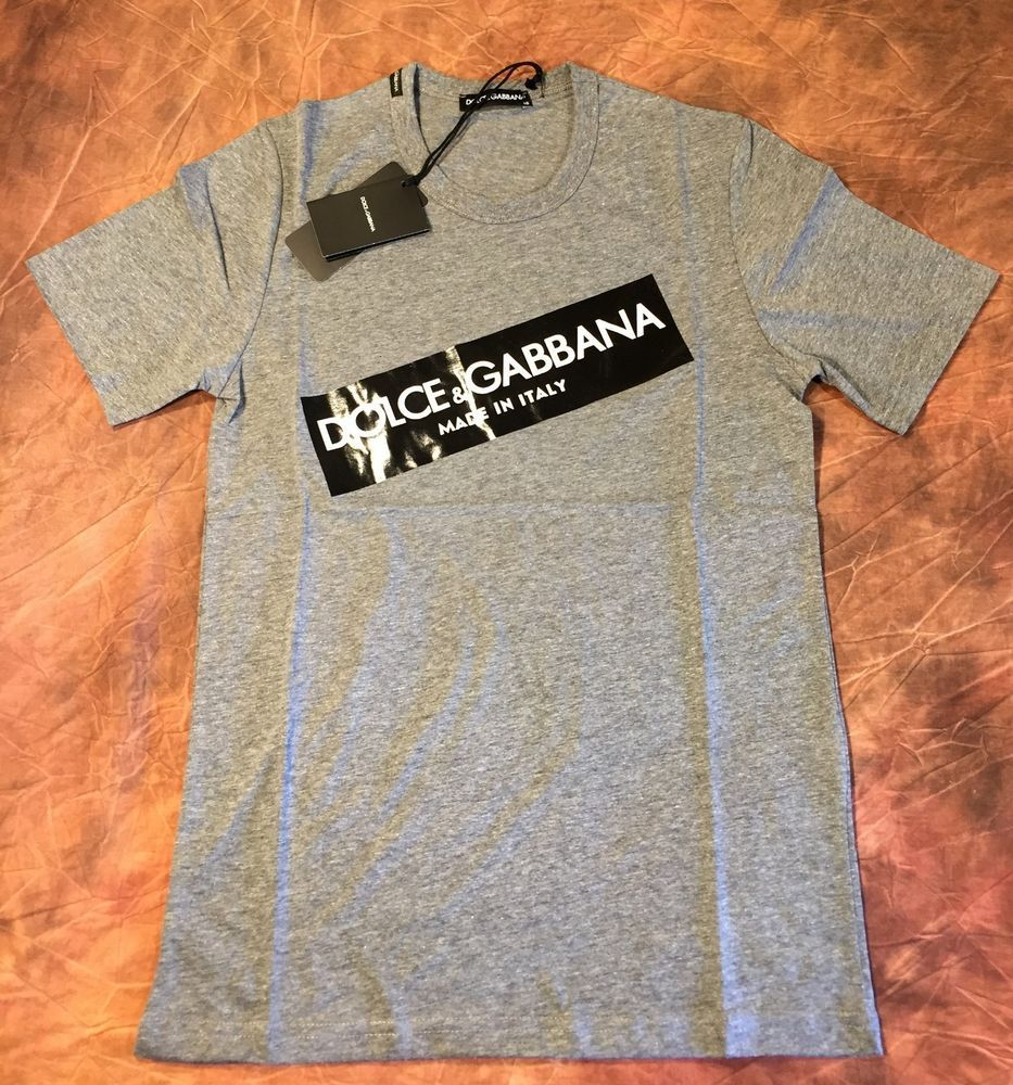 7984b3c1 DOLCE GABBANA BRAND NEW MEN T SHIRT SIZE S COLOR GRAY MADE IN ITALY KING  ROYAL #fashion #clothing #shoes #accessories #mensclothing #shirts #ad  (ebay link)