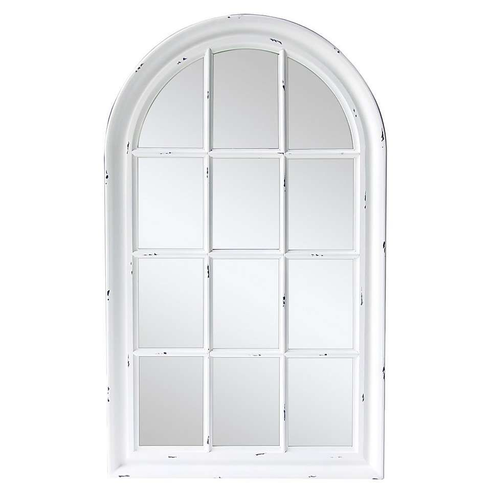 White Arch Mirror Dunelm With Images Arch Mirror Arched Window Mirror Window Frame Mirror