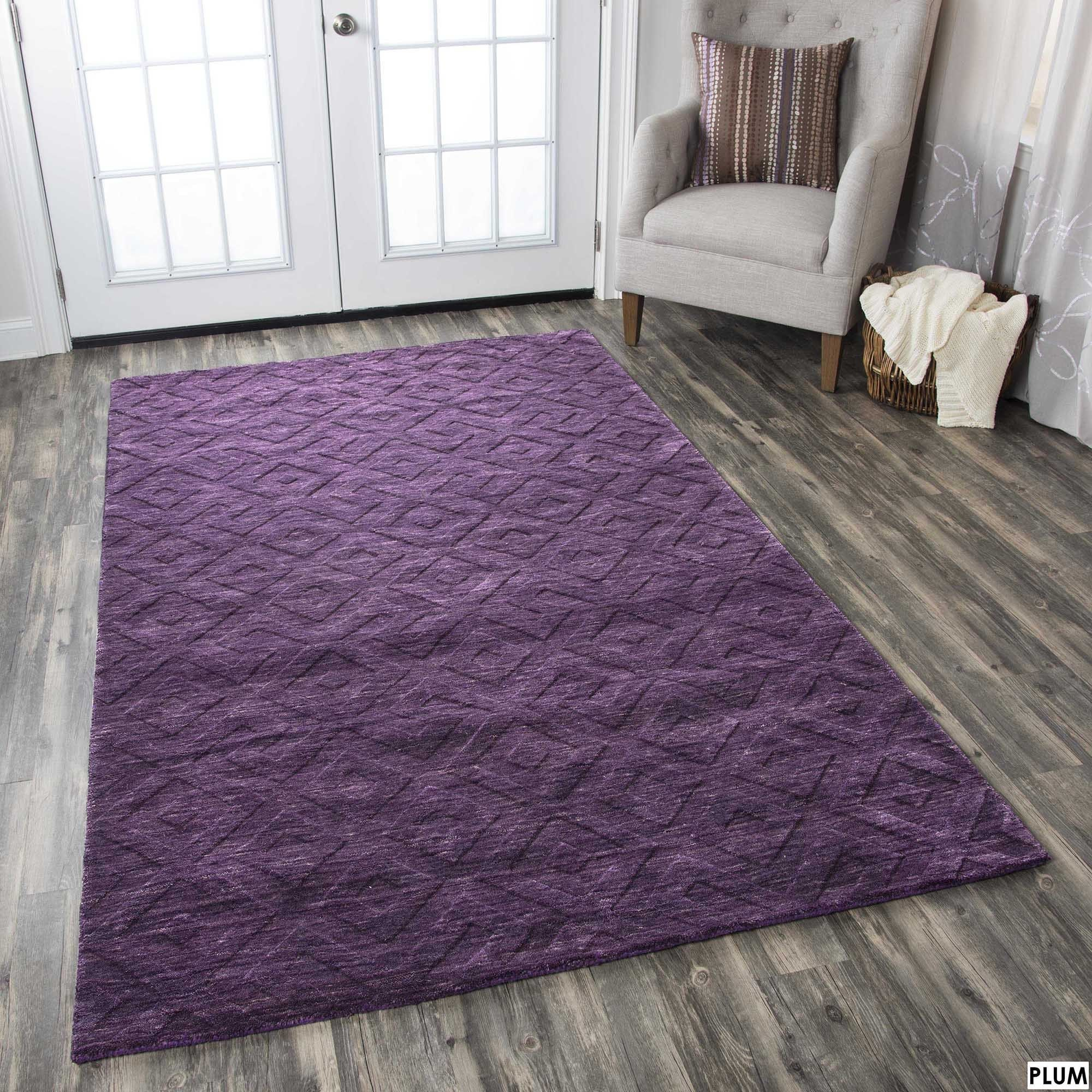 Rizzy Home Technique 100 Percent Wool Accent Rug 5 X 8